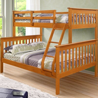 Twin over Full Bunk Bed Color: Honey