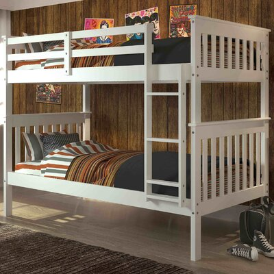 Donco Twin over Twin Bunk Bed Color: White
