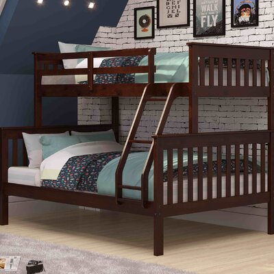 Twin over Full Bunk Bed Finish: Cappucino