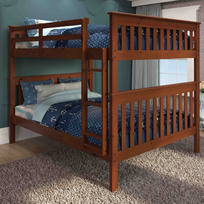 Full over Full Bunk Bed Finish: Light Espresso