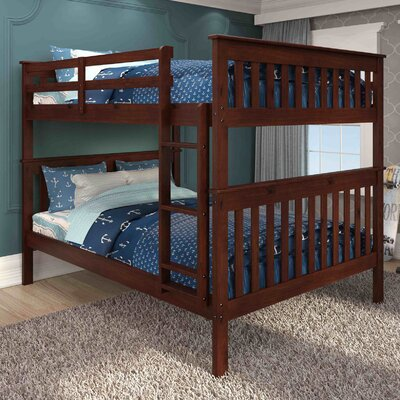 Full over Full Bunk Bed Finish: Dark Cappuccino