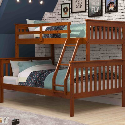 Twin over Full Bunk Bed Finish: Espresso