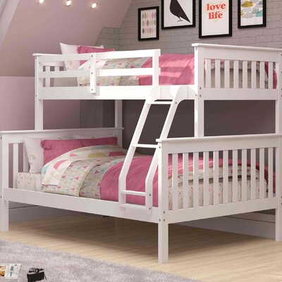 Twin over Full Bunk Bed Finish: White