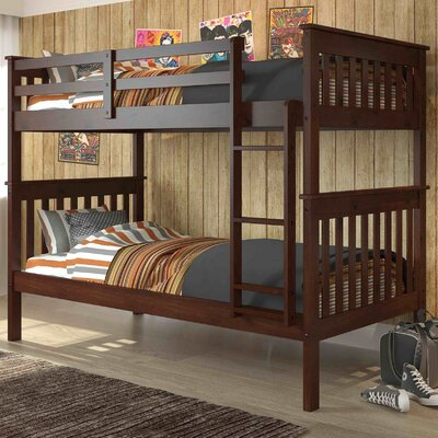 Donco Twin Bunk Bed Finish: Cappucino