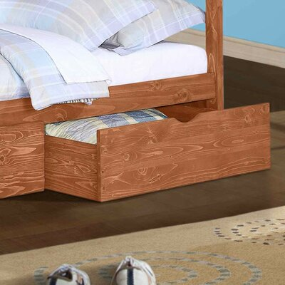 Insley Dual Underbed Storage Drawer Color: Cinnamon