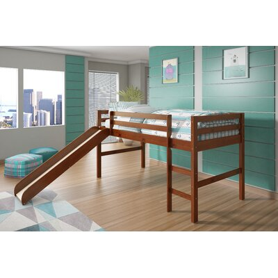 Twin Low Loft Bed Finish: Light Espresso