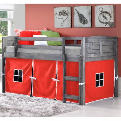 Twin Low Loft Bed Color: Red