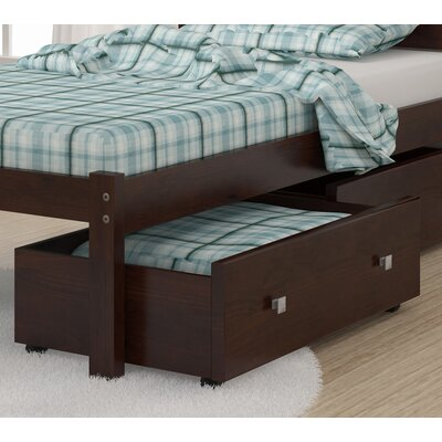 Insley Dual Underbed Storage Drawer Color: Dark Cappuccino
