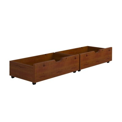 Insley Dual Underbed Storage Drawer Color: Light Espresso