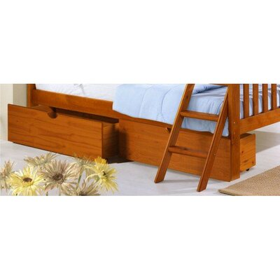 Insley Dual Underbed Storage Drawer Color: Honey