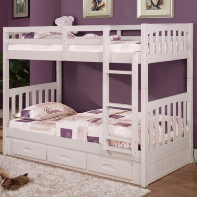 Mission Twin Over Twin Bunk Bed with Drawers