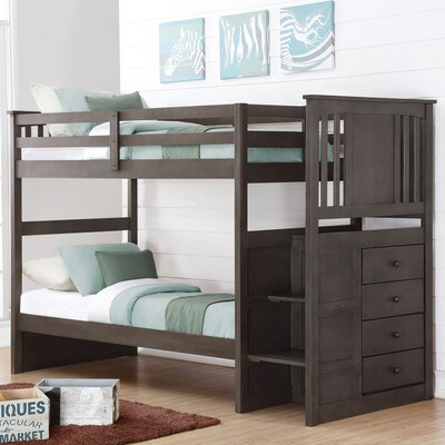 Princeton Stairway Bunk Bed Size: Twin over Full