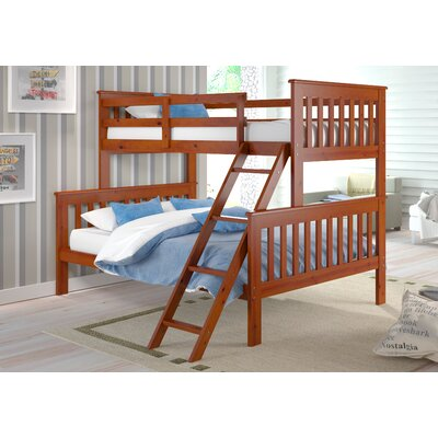 Twin over Full Standard Bunk Bed Finish: Light Espresso