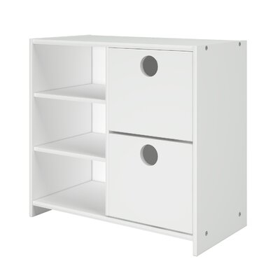 Felisha 2 Drawer Chest with Shelves Color: White