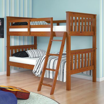 Donco Kids Twin Bunk Bed Finish: Light Espresso