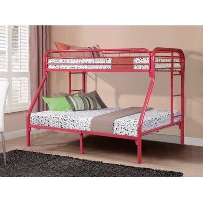 Cloverdale Metal Bunk Bed Bed Frame Color: Hot Pink