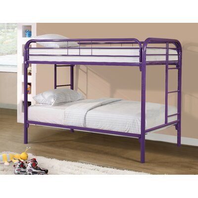 Cloverdale Modern Metal Bunk Bed Bed Frame Color: Purple