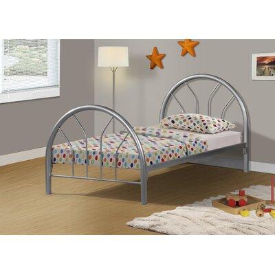 Craigsville Metal Hoop Slat Bed Bed Frame Color: Silver