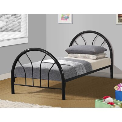 Craigsville Metal Hoop Slat Bed Bed Frame Color: Black