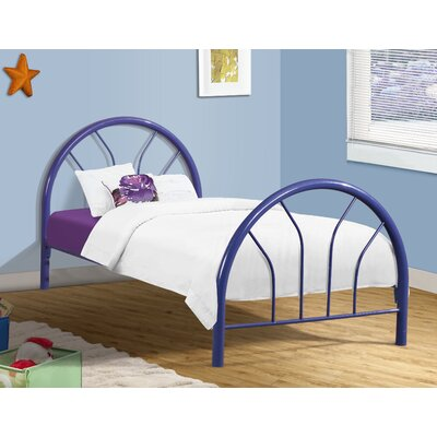 Craigsville Metal Hoop Slat Bed Bed Frame Color: Blue