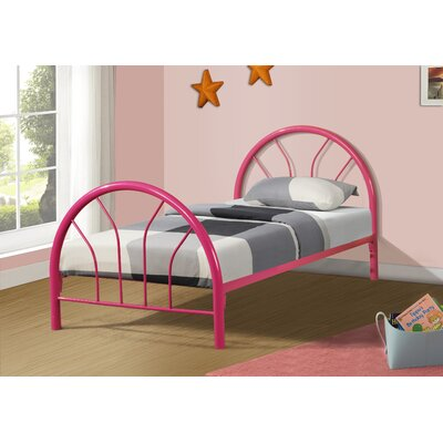 Craigsville Metal Hoop Slat Bed Bed Frame Color: Hot Pink