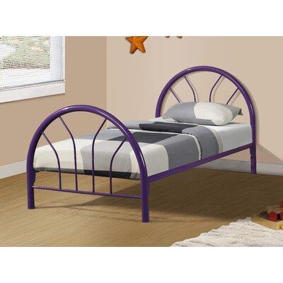 Craigsville Metal Hoop Slat Bed Bed Frame Color: Purple