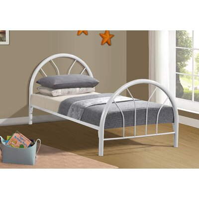 Craigsville Metal Hoop Slat Bed Bed Frame Color: White