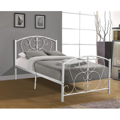 Crewe Metal Slat Bed Bed Frame Color: White