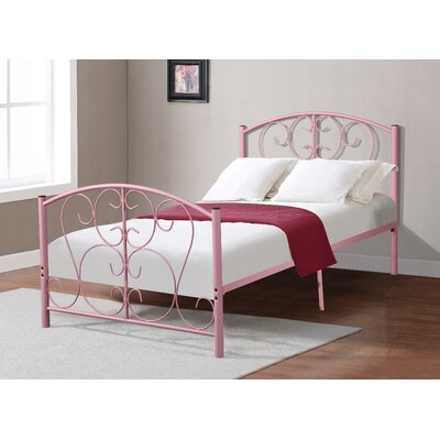 Crewe Metal Slat Bed Bed Frame Color: Light Pink