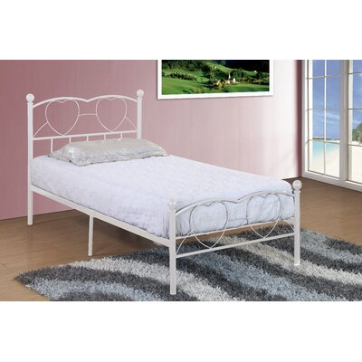 Herault Metal Heart Twin Slat Bed