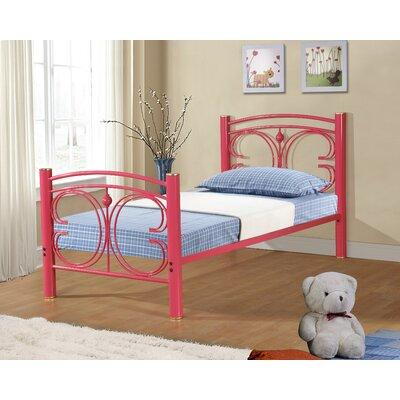 Clint Metal Butterfly Slat Bed Size: Twin