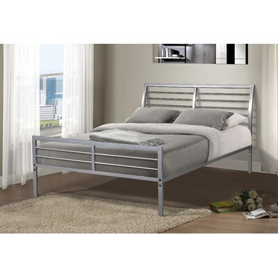 Chrystal Metal Slat Bed Size: Full