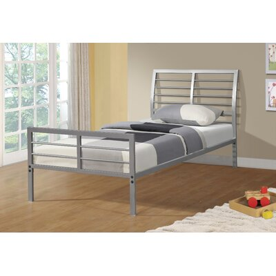 Chrystal Metal Slat Bed Size: Twin