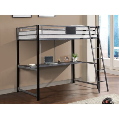 Coleen Metal Twin Loft Bed