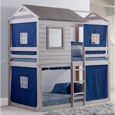 Alluvial Twin Bunk Bed Color: Blue