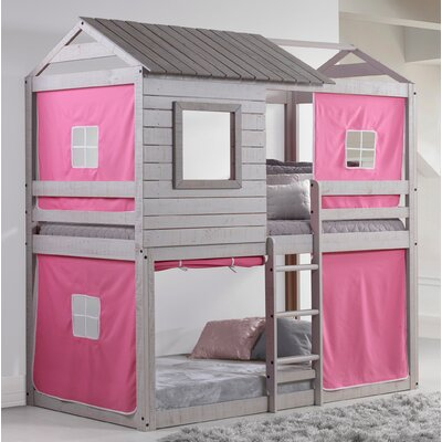 Alluvial Twin Bunk Bed Color: Pink
