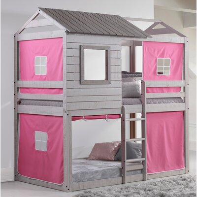 Alosio Bunk Bed Accessory Fabric Color: Pink