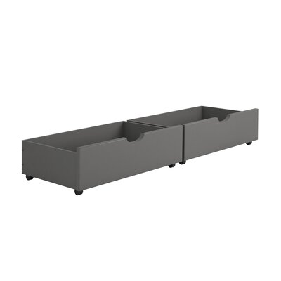 Insley Dual Underbed Storage Drawer Color: Dark Gray