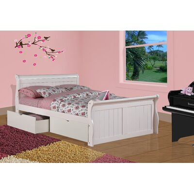 Sleigh Bed with Storage Size: Full