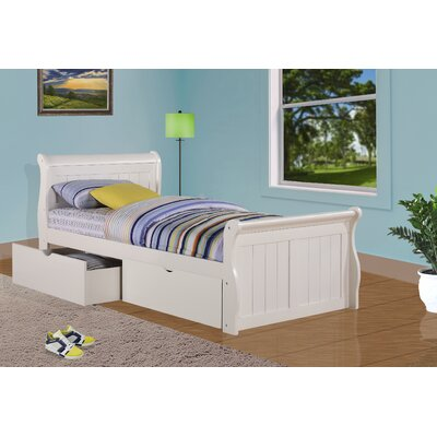 Sleigh Bed with Storage Size: Twin