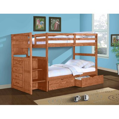 Ranch Twin over Twin Bunk Bed with Storage