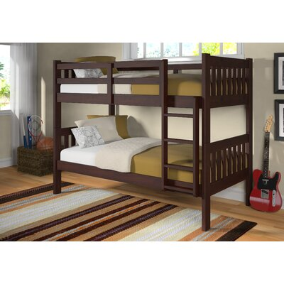 Twin over Twin Bunk Bed Color: Dark Cappuccino