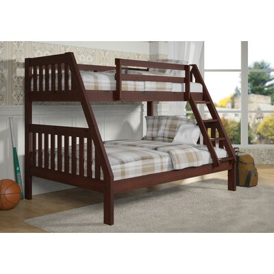 Twin over Full Bunk Bed Color: Dark Cappuccino