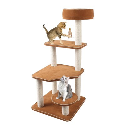 "45"" Cat-Life 5 Level Staircase Lounger Activity Centre Cat Tree CATF109"