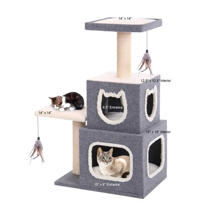 Dual Hide-Away Landing Pad and Scratching Posts