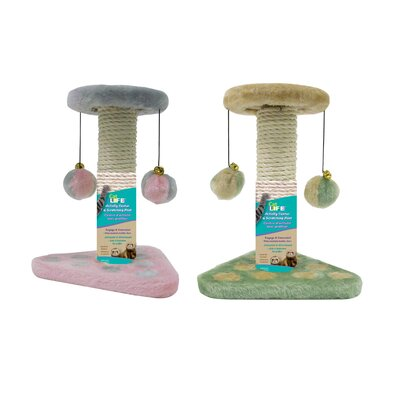 2 Piece Kitty Activity Center Sisal Scratching Post Set CATF25