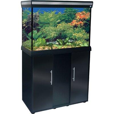 Delta Queen VI Rectangular Aquarium and Stand in Black