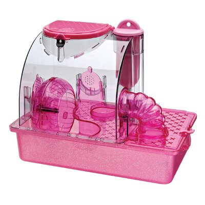 Housing Unit Small Animal Modular Habitat Color: Pink
