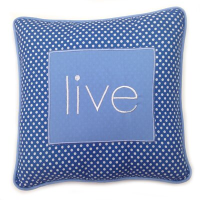 Simplicity Live Decorative Cotton Throw Pillow Color: Blue