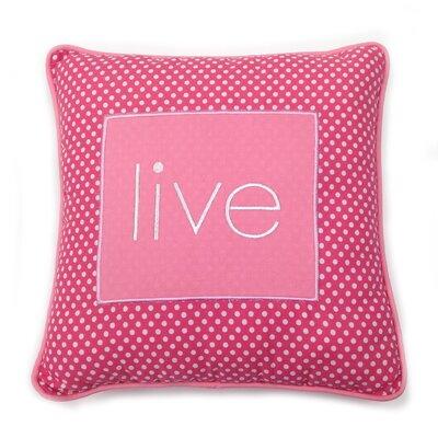 Simplicity Live Decorative Cotton Throw Pillow Color: Hot Pink
